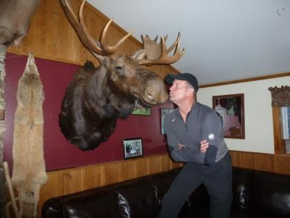 Bruce kissing Moose